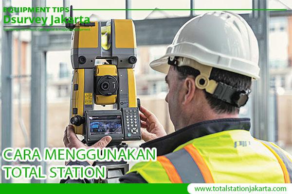 cara menggunakan total station